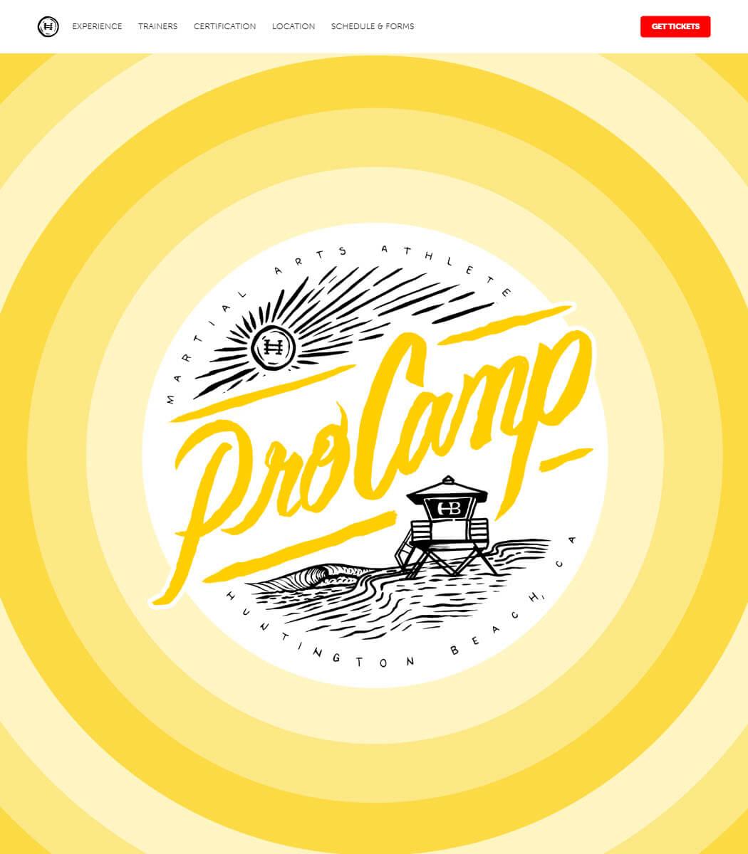 Hyper Pro Camp Website