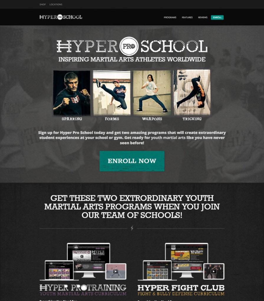 Hyper Pro School Website