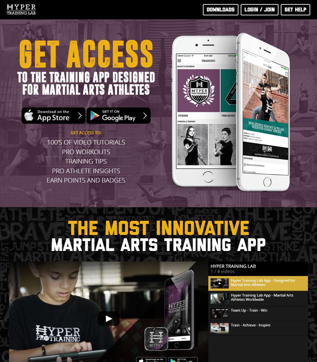 Hyper Training Lab Website
