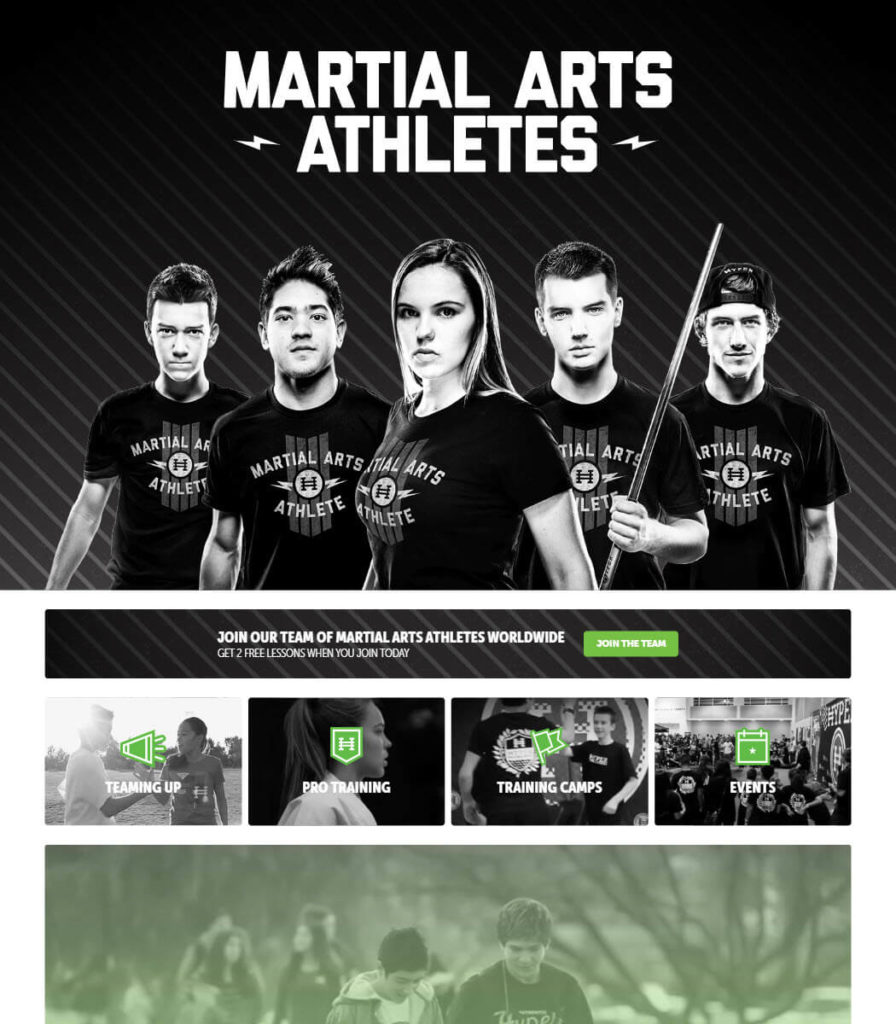 Martial Arts Athletes Website