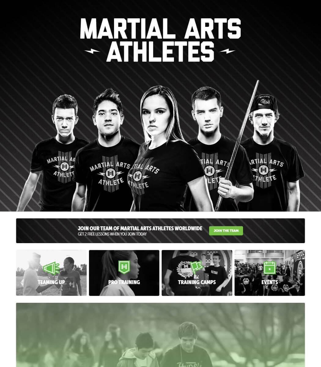 Martial Arts Athletes Website